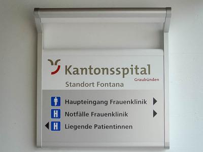 Kantonsspital Chur: Orientierungstafeln